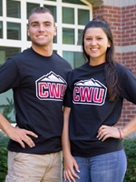 CWU Black Tshirt with Stuarts