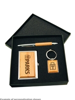 Silver/Wood Business Gift Set