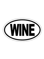 Wine Euro Sticker
