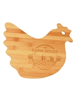 Bamboo Cutting Board Chicken Engraved