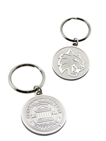 Silver Central Wildcats Keychain