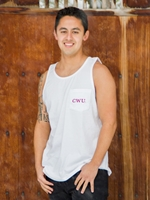 CWU White Pocketed Tank
