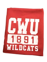 CWU Wildcat Crimson Sweatshirt blanket