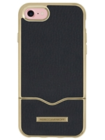 Rebecca Minkoff Slide Case for iPhone 7 - Black Leather/Metallic