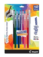 Frixion Erasable Color Stick 0.7mm 10pk Pen Set