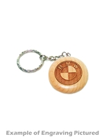 Round Maple Keychain (Customizable)