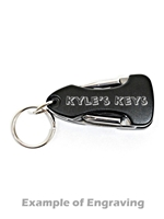 Multi-Tool Black Keychain (Customizable)