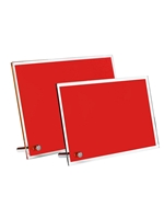 Red Glass Plaque (Customizable)