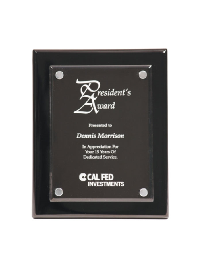 Picture Engraved Acrylic Plaque Personalised Custom Photo Block and Stand