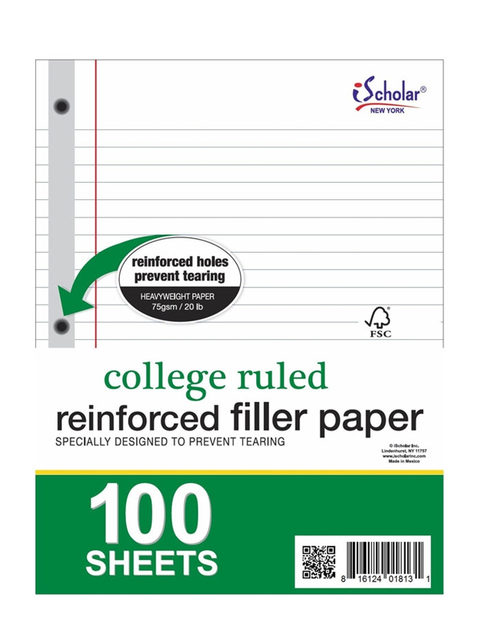 reinforced filler paper Stock up on a wide variety of loose-leaf paper, filler paper and binder paper at bulk office supply today.