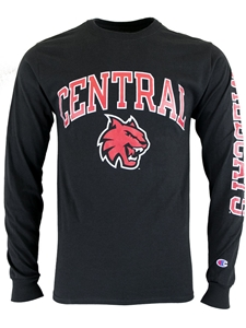 Central Long Sleeve Black Tee