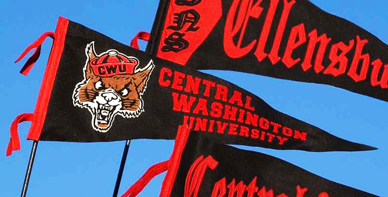 retro central washington university penants