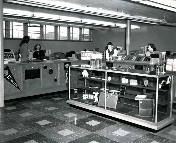 inside the college bookstore 1950